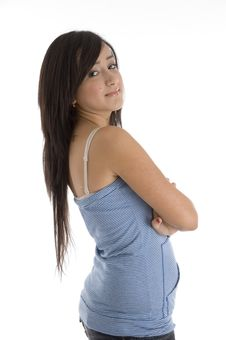 Beautiful Teen With Folded Hands Stock Photos