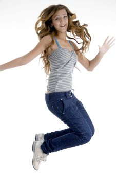 Free Jumping Young Girl Royalty Free Stock Images - 6824299