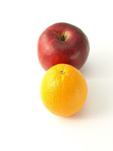 Free Orange And An Apple. Stock Photography - 6824442