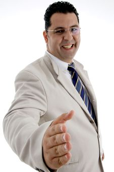 Free Happy Businessman Offering Hand Shake Royalty Free Stock Photography - 6824517