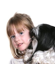 Free Girl And Her Dog Stock Photography - 6824722