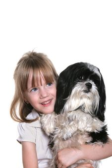 Free Girl And Her Dog Stock Photos - 6824743