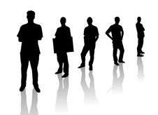 Free Silhouette Men Royalty Free Stock Images - 6824789