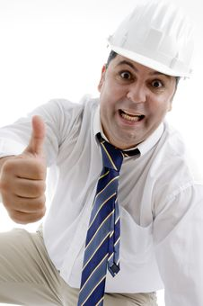 Free Architect Showing Approval Gesture Royalty Free Stock Images - 6824819