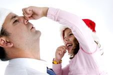 Free Girl Holding Her Father S Nose Stock Photography - 6824952