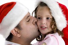 Free Father Kissing His Daughter Royalty Free Stock Photos - 6824958