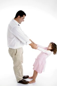 Father Playing With Girl