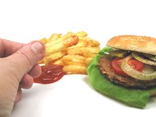 Eating Fastfood Stock Photography