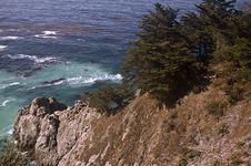 Free Big Sur Cliff Royalty Free Stock Photo - 6825175