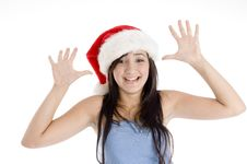 Free Smiling Girl Showing Her Palms Stock Photography - 6825372