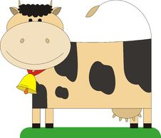 Free Cow With A Bell. Royalty Free Stock Photography - 6825547