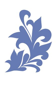 Free Blue Part Of The Pattern Painting Royalty Free Stock Photos - 6825638