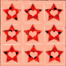 Free Grungy Stars & Heart Backdrop Stock Photos - 6825773