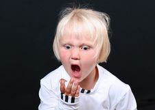 Free Little Girl S Expression Royalty Free Stock Photos - 6825838