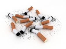 Used Cigarette Butts Stock Photo