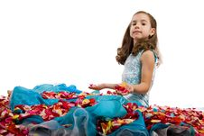 Free Little Princess In Blue Stock Photography - 6826252