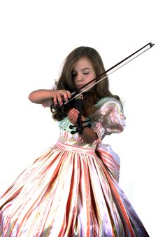 Free Little Princess And Violin Stock Image - 6826261
