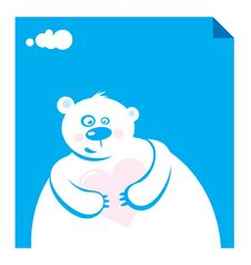 Free Vector Illustration Polar Bear Royalty Free Stock Image - 6826346