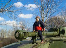 Free The Boy Sitting On The Tank Stock Photo - 6826620