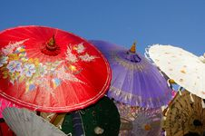 Array Of Parasols Stock Photography