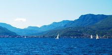 Blue Italian Lake Stock Images