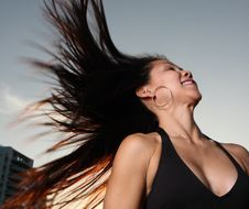 Free Woman Flinging Her Hair Royalty Free Stock Images - 6827389