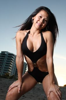 Free Woman Posing On The Beach Stock Photos - 6827393