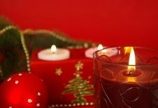 Free Candle And Christmas Decoration Stock Photos - 6827593