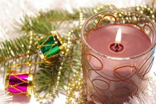 Free Candle And Decoration Isolated Stock Photo - 6827660