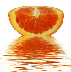 Quarter Of Orange Stock Photography