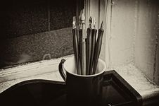 Free Pen Cup Stock Image - 6827981