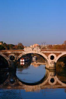 Free Tiber Bridge Royalty Free Stock Image - 6828156