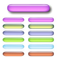 Free A Lot Of Glossy Pastel Buttons On White Stock Image - 6828431