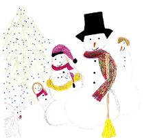 Free Baby Snow Family Stock Photo - 6828440