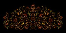 Decorative Floral Ornament Royalty Free Stock Photo
