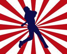 Free Baseball Player Burst Stock Image - 6828811