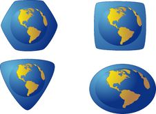 Icon With Globe Stock Images
