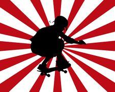 Free Skateboarder Burst Royalty Free Stock Photography - 6829017