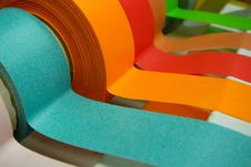 Colored Tape In Dispenser Stock Image