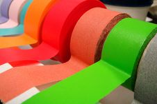Colored Tape In Dispenser Stock Photos