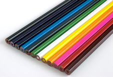 Free Set Of Colorful Pencil Crayons Royalty Free Stock Image - 6829386