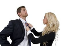 Free Lady Knotting Tie Of Man Stock Photo - 6829420