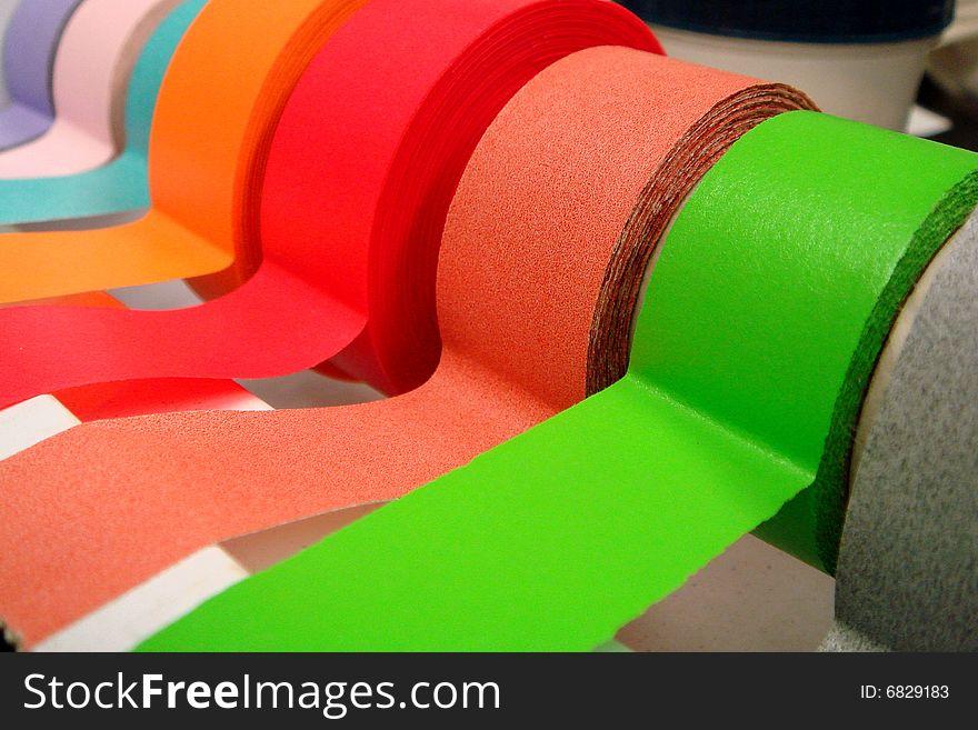 Colored Tape in Dispenser