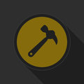 Free Dark Gray And Yellow Icon - Claw Hammer Royalty Free Stock Photography - 68284227