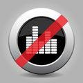 Free Gray Chrome Button - No Equalizer Symbol Stock Photos - 68284233