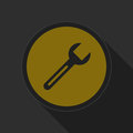 Free Dark Gray And Yellow Icon - Spanner Royalty Free Stock Photography - 68284727