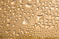 Free Golden Water Drops Over Metal Background Stock Photos - 6830603
