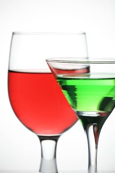 Free Red Wine And Martini Royalty Free Stock Photos - 6830018