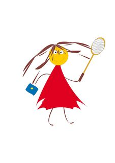 Free Girl With A Racket. Royalty Free Stock Image - 6830136