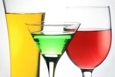 Three Liquid Glass Stock Photo